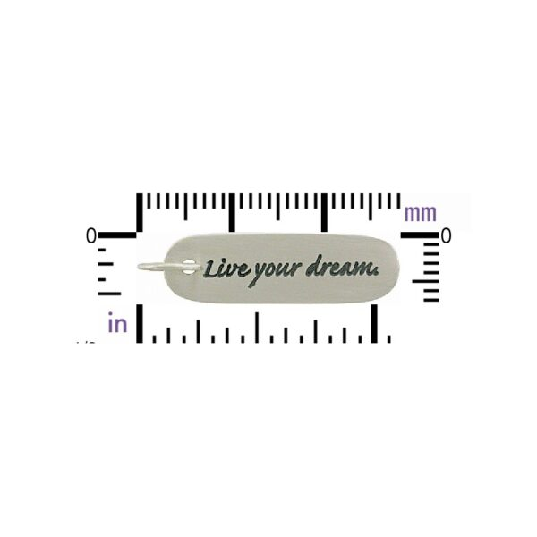 live your dream sterling silver pendant