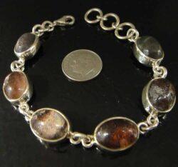 lodolite and sterling silver bracelet