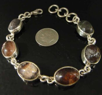 lodolite and sterling silver bracelet