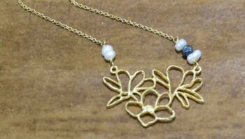 Second Nature Jewelry magnolia inspired necklace