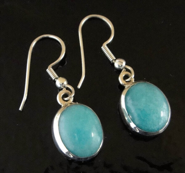handmade amazonite and sterling silver earrings