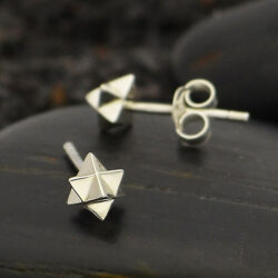 merkaba stud earrings