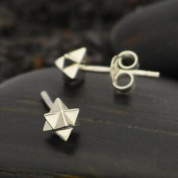 merkaba stud earrings