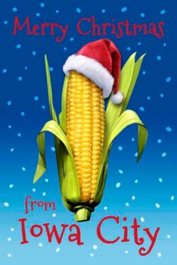 Merry Christmas from Iowa City corn ornament