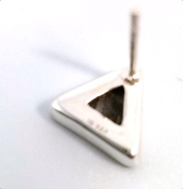 back of meteorite stud earrings