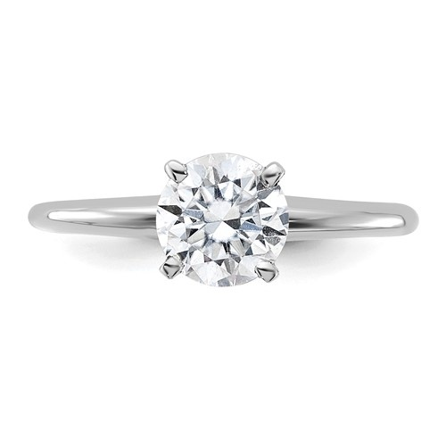 top view of moissanite engagement ring