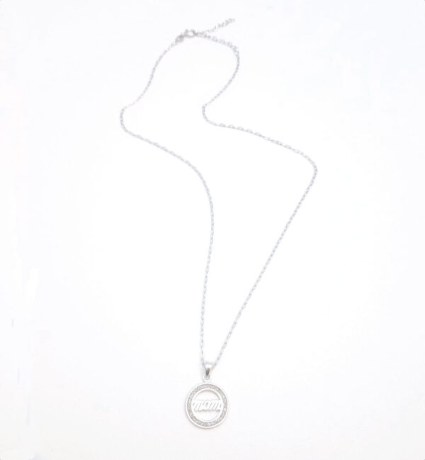 mom necklace with sterling silver adjustable chain