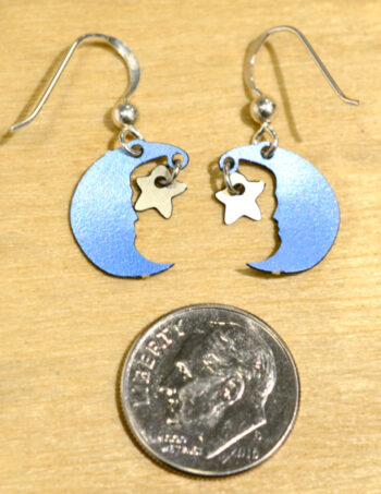 back of moon and star earrings