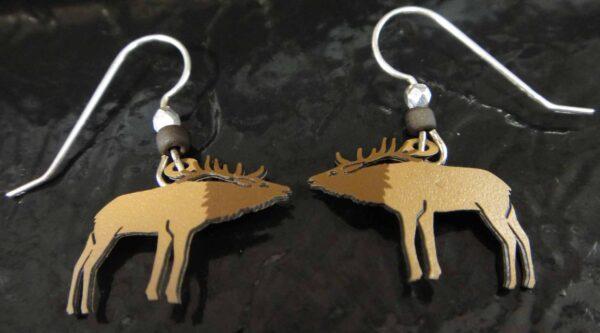 These elk earrings are handmade
