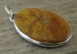 Morgan Hill Poppy Jasper and sterling silver pendant by Dale Repp