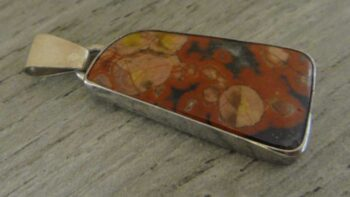 handmade Morgan Hill Jasper and sterling silver pendant by Dale Repp