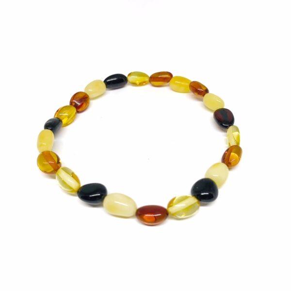 Multi-color amber nugget bracelet