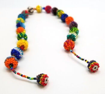 magnet clasp of multicolor beaded necklace