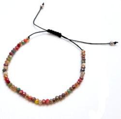 multicolor art glass bracelet