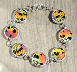 handmade metallic colorful butterfly wing bracelet