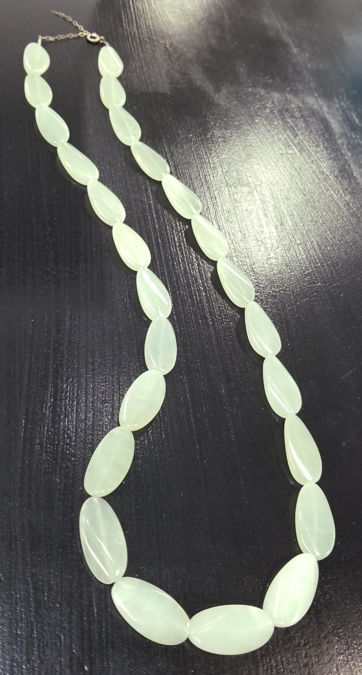 light green new jade necklace