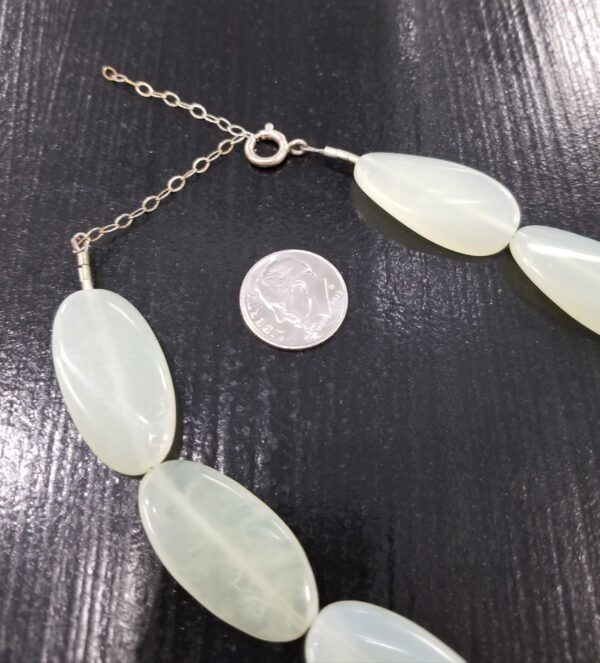 new jade necklace clasp with dime for scale