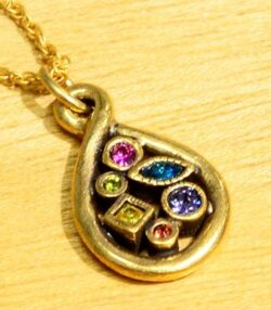 """Patricia Locke Now + Forever drop necklace in color palette """"Fling"""""""