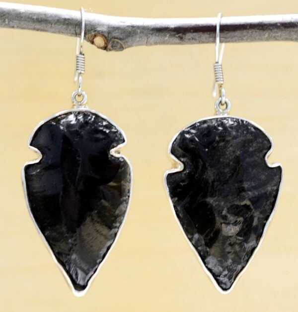 Charles Albert obsidian drop earrings