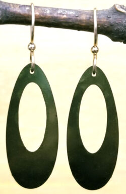 olive green long earrings