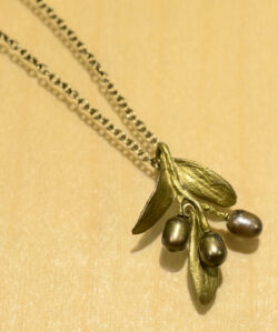 Michael Michaud Olive branch handmade necklace pendant