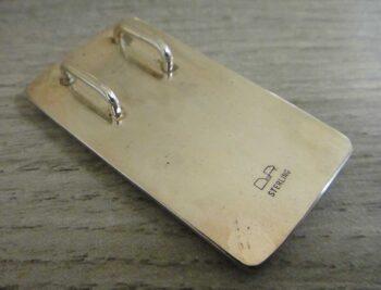back of rectangular orsk jasper pendant