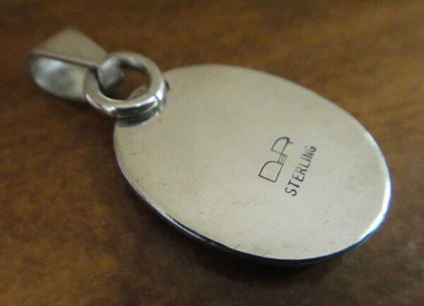 back of Orsk jasper pendant