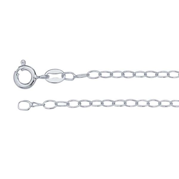16 inch sterling silver cable link chain