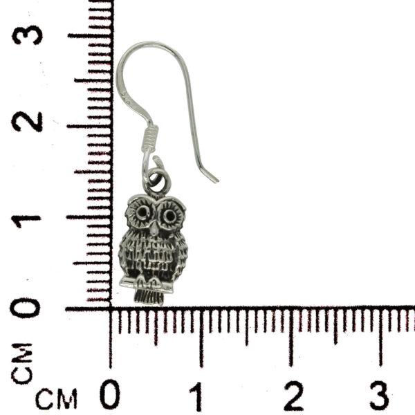 petite owl earrings with ruler