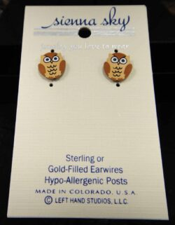 owl stud earrings by Sienna Sky
