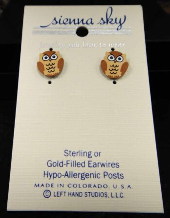 owl stud earrings by Sienna Sky