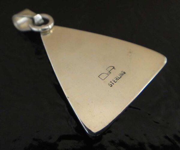 back of Owyhee jasper pendant