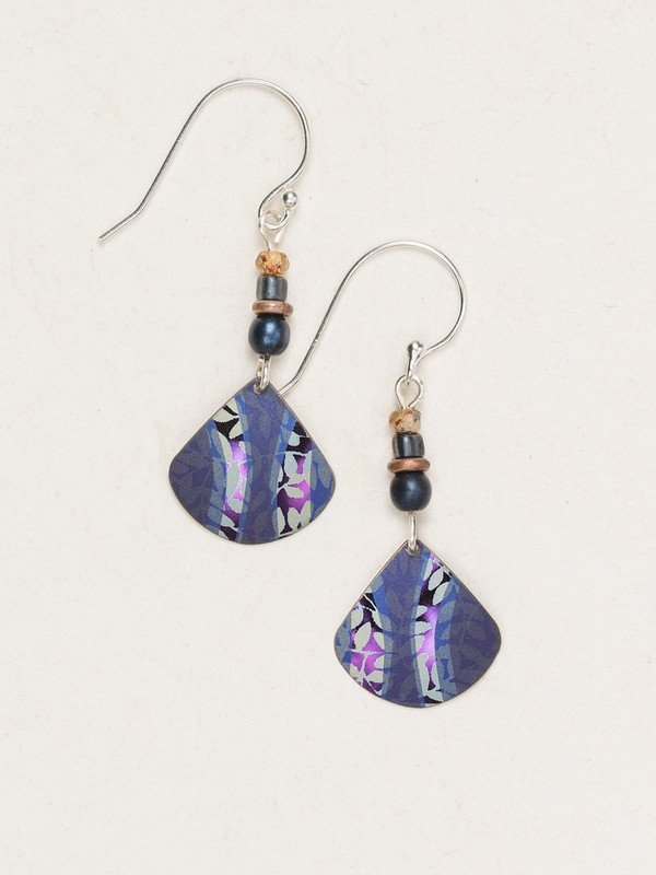 Purple painterly earrings by Holly Yashi