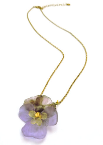 Michael Michaud pansy necklace