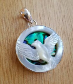 Peace dove raising pendant