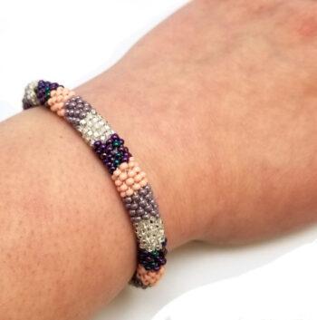 roll-on bracelet on wrist