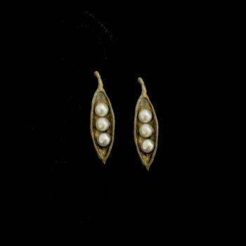 pea pod post earrings by Michael Michaud Design