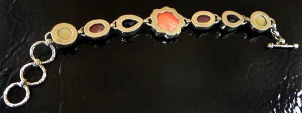 back of gemstone bracelet