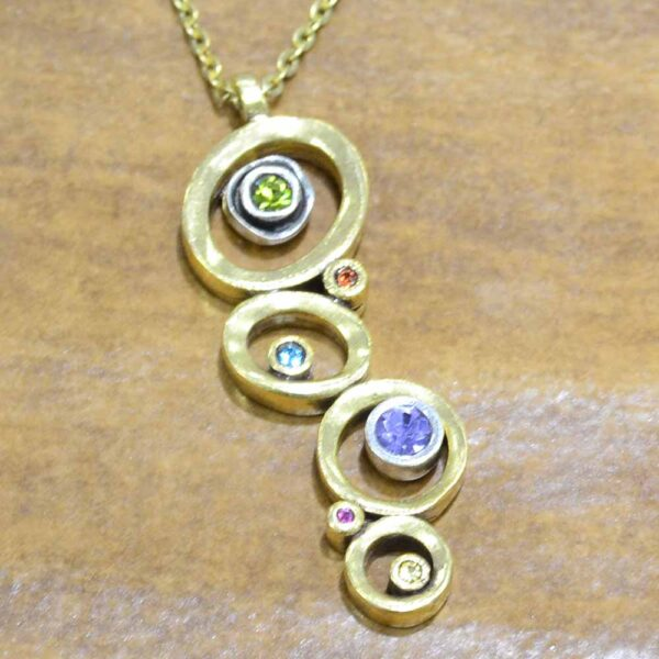 "Peekaboo Style necklace in color ""Fling"" by Patricia Locke"
