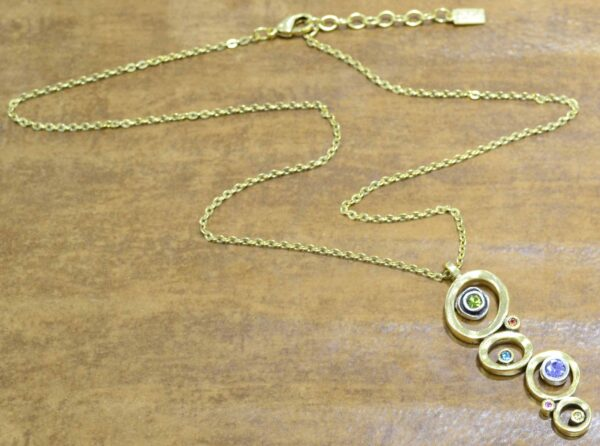 "Peekaboo Style necklace in color ""Fling"" by Patricia Locke"