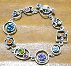 "Penny Arcade silver tone bracelet in the color palette ""Fling"""