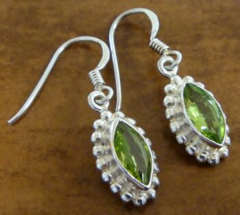 peridot and sterling silver earrings by Anna King Jewelry