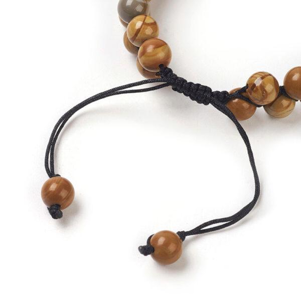 adjustable knot detail on this unisex gemstone bracelet