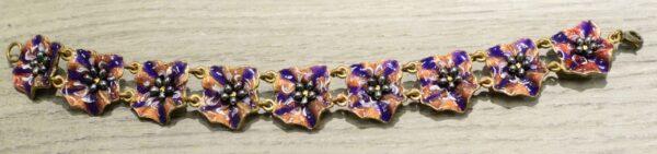 Michael Michaud Silver Seasons Petunia flower bracelet