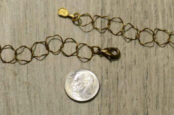 Michael Michaud Silver Seasons long Petunia flower necklace clasp