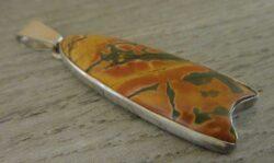handmade Picante jasper and sterling silver pendant by Dale Repp