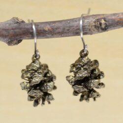 Michael Michaud Seasons brown pinecone Dangle earrings