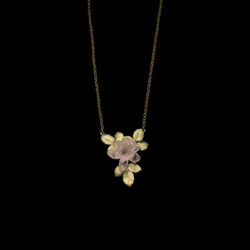 pink blooming rose necklace from Michael Michaud
