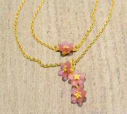 Michael Michaud Pinkie Winkie layered necklace