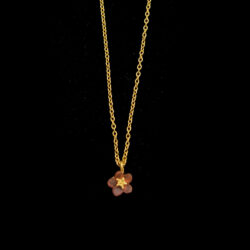 pinkie winkie, pink forget me not necklace